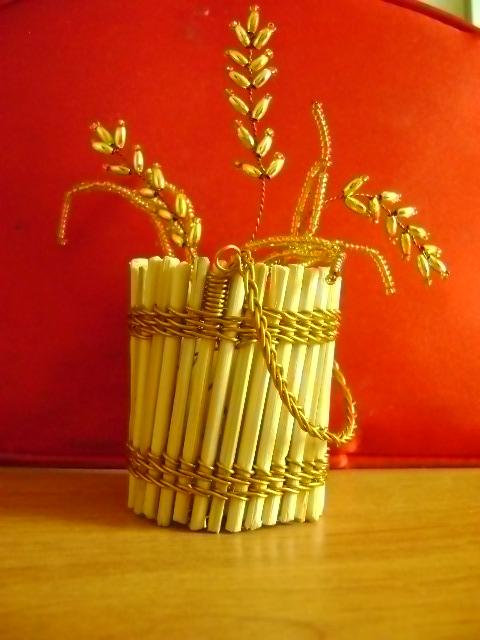 Про бисер - Колоски пшеницы.